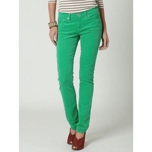 AG The Stevie Kelly Green Corduroy Pants 27